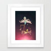 Rick And Morty - Pink Gr… Framed Art Print