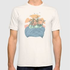 Mother Nature Mens Fitted Tee Natural SMALL