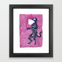 Black Dog Rampage Framed Art Print