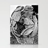 Angel profile Stationery Cards