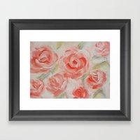 Petal Roses Framed Art Print