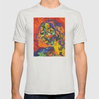 Self Portrait Mens Fitted Tee Silver SMALL