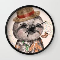 Mr.Sloth Wall Clock