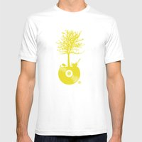 Vinyl Tree Mens Fitted Tee White SMALL