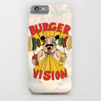 iPhone & iPod Case featuring Burger Vision by Mike Oncley