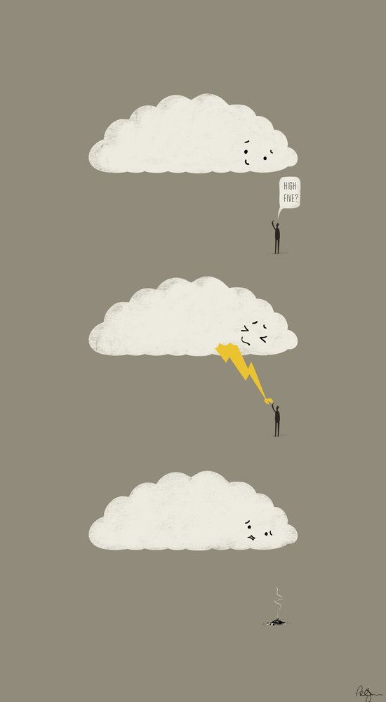 Cloud High Five Canvas Print