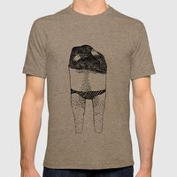 Undressing Series / Geor… Mens Fitted Tee Tri-Coffee SMALL