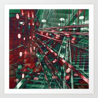 Abstract City Lines Art Print