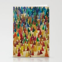 Colorful Conifers Stationery Cards