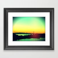 Sunset In NYC Framed Art Print