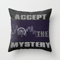 Accept the Mystery Throw Pillow