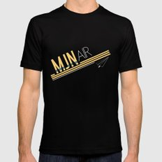MJN Air Black SMALL Mens Fitted Tee