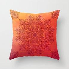 Sun Mandala Throw Pillow