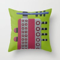 Indian woman with pink breasts Throw Pillow
