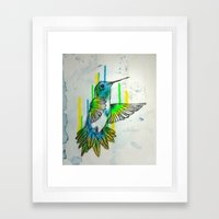 Humming Framed Art Print