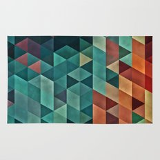 Teal/Orange Triangles Rug