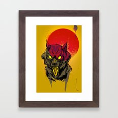 Red Moon Rising Framed Art Print