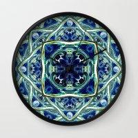 Blue & Green Yin Yang Wall Clock