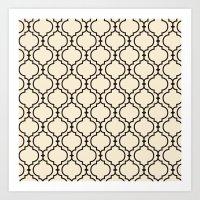 Trellis Pattern I Art Print