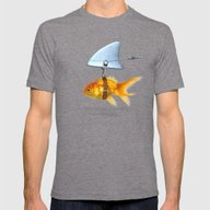 Gold Fish Mens Fitted Tee Tri-Grey SMALL
