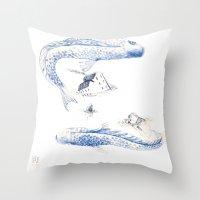Alluvione   Flood Throw Pillow