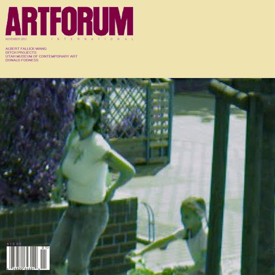 November 2012 Artforum Cover Art Print