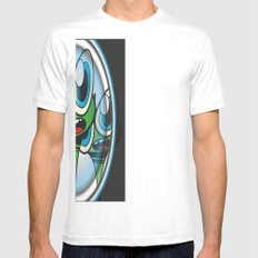 Raindrop Wars Mens Fitted Tee SMALL White