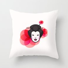 Geisha Icon Throw Pillow