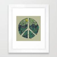 Peaceful Landscape Framed Art Print
