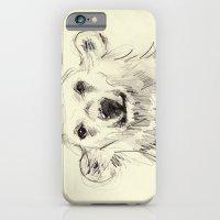 Polar Bear Smiling Black and White iPhone 6 Slim Case