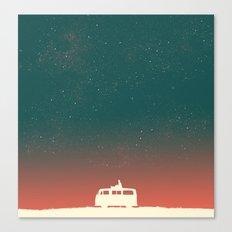 Quiet Night - Starry Sky Canvas Print
