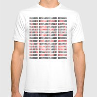 NERD INSIDE Mens Fitted Tee White SMALL