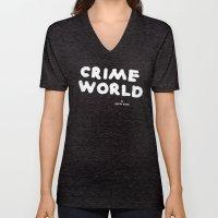 Crime World Logo Unisex V-Neck