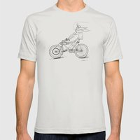 Cruiz'n Right Alomg Mens Fitted Tee Silver SMALL