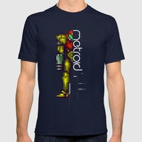 Metroid Mens Fitted Tee Navy SMALL