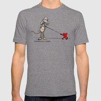 FOLLOW YOUR HEART Mens Fitted Tee Tri-Grey SMALL