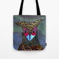 Owl-Girl Tote Bag