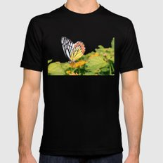 Butterfly (2) Black Mens Fitted Tee SMALL