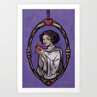 Snow Organa And The Pois… Art Print