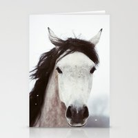 Winter Horse Stationery Cards