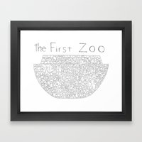 The First Zoo Framed Art Print
