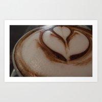 Hot Chocolate Flower Art Print