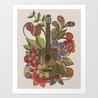 Ever Guitar Art Print