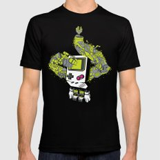 Pixel Dreams SMALL Mens Fitted Tee Black