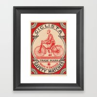 CICLISTA Framed Art Print