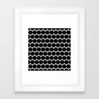 Black & White Polka Spots Framed Art Print