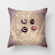 The Five of Us Throw Pillow