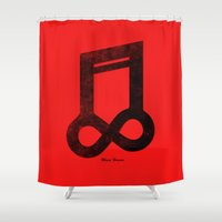 Music Forever Shower Curtain