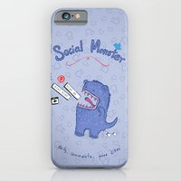 Social Monster Blue iPhone 6 Slim Case