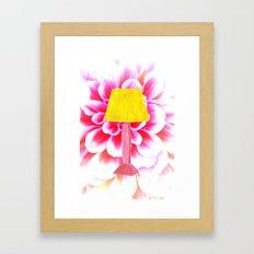 lamp shade flower illustration Framed Art Print